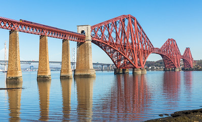 210416  This mornings bonus working, working back to Edinburgh after its first run on the Royal Scotsman 66746 looks the part as it crosses the Forth rail bridge with  1H84 0807 Dundee to Edinburgh