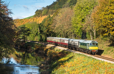 D7612 skirts the River dart with the 1030 Buckfasleigh to Totnoes.