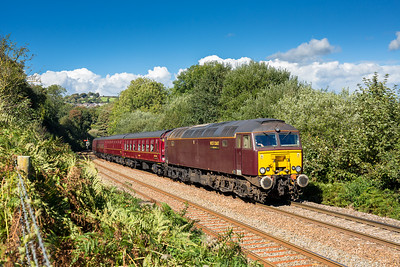 021016  The assistant mans the tripod.....57314 begins the climb out of Lostwithiel with 1Z37 0848 Bristol Temple Meads to Par.Nice meeting up with Craig Munday