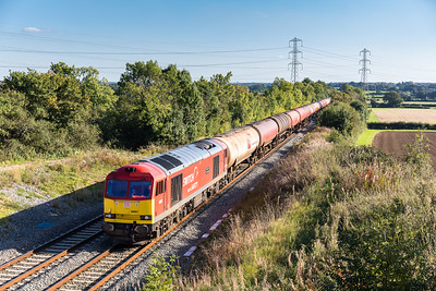 051016, 60007 heads the diverted 6B33  13:00 Theale-Robeston past Oaksey