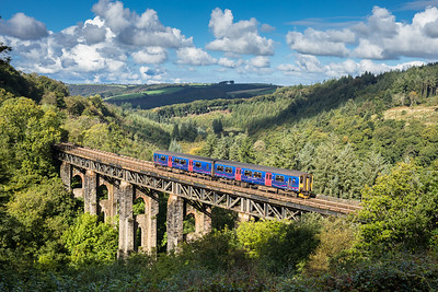 021016 Its only a unit....150265 heads over Largin viaduct