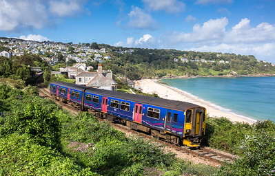 250916  150246 departs Carbis bay and heads the 2A16 1133 St Ives to St Erth
