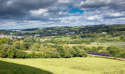 220916  Nice view.....FGW class 150 heads up Trevverin bank with the 2C47 1349 Plymouth to Penzance