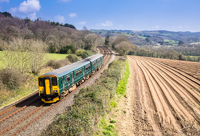 070417  , 150263 passes Trenowth with the 2C45 1018 Exeter St Davids to Penzance