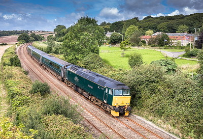 190817 .57602 passes Trenowth with the 2P70 1028 St Erth to Plymouth