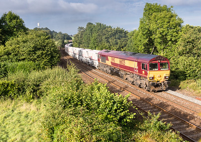 250717  66025 passes Stoney bridge with the 6G06  07:39 Goonbarrow-Fowey