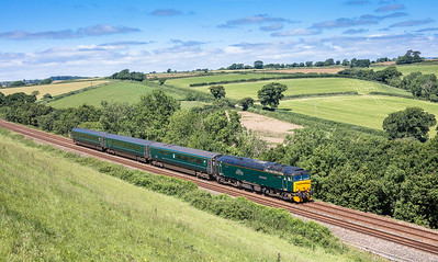 010717  57602 approaches St Germans with the 2P70 1028 St Erth to Plymouth