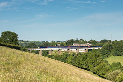 060717  The 1A77 0541 Penzance to London Paddington heads over Liskeard viaduct