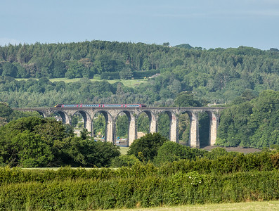 030617  Arriva 220 heads over St Germans Viaduct with the 2N00 0725 Plymouth to Newquay
