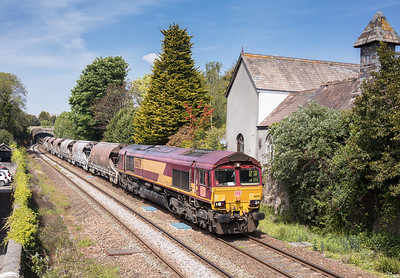 100517  66139  heads through St Austell with the  6C01  ThO  11:29 Treviscoe-St.Blazey