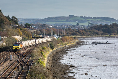 011117  70816  approaches Laira junction with the 6C35  WO  02:50 Aberthaw cement works-Moorswater