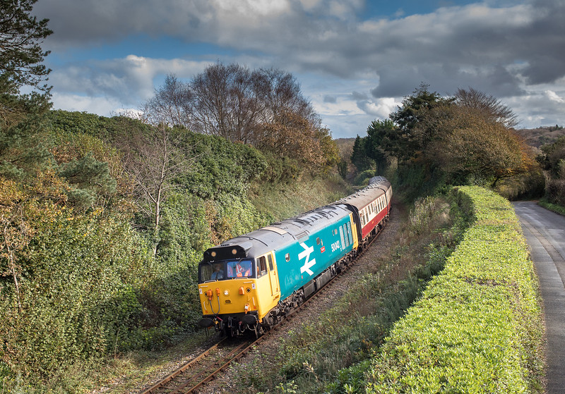 041117   50042 leans into quarry curve and heads toward Bodmin General