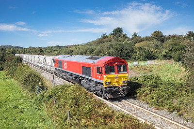 010917   66206 heads over Carpalla crossing with the second portion of  6P24  15:25 Parkandillack-Fowey