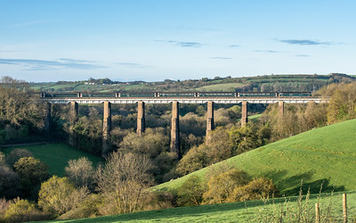300418 57602 crosses Liskeard viaduct with the 1C99  23:50(Sun) Paddington-Penzance