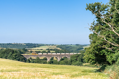 120718  .70815 heads the 6C36  ThO  08:00 Moorswater-Aberthaw cement works over bolitho viaduct (by the assistant)