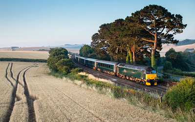 140718   57603 heads past Trerulefoot with the 1C99 23:45 Paddington-Penzance