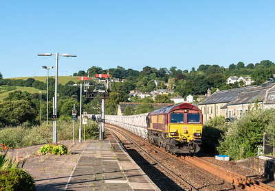 66031 heads the 0726 St Blazey Ss to Parkandillack into Lostwithiel.On a Mondays as this train starts from St Blazey it has to come to Lostwithiel to run round