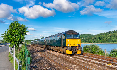 020618  . 57605 heads along Laira embankment with the 2C51 1751 Exeter St Davids to Penzance