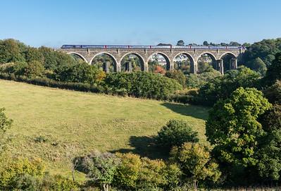 101018, FGW 125 heads across Moorswater viaduct
