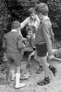 St Pierre - François, Jean-Pierre et Xavier - Aout 1970