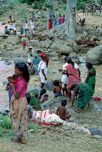 Pilgrims at Hogenakkal