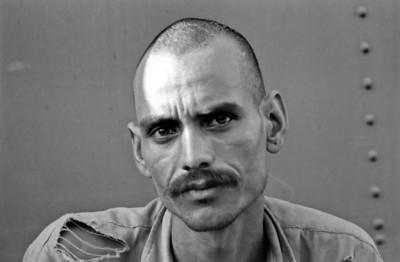 Train portrait - India, 1974