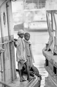 Boat on the Ganges river