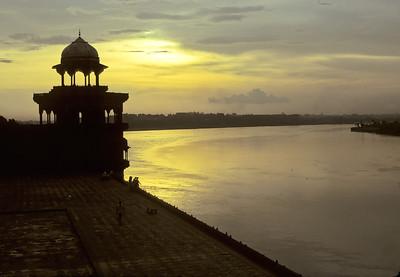 Yamuna river from Taj Mahal