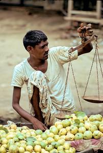Street seller, near Agra