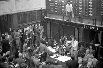 Les boursiers - Paris Stock Exchange Paris in the 70's