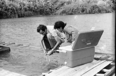 My friend Dominique - Measuring primary production in East Java - Indonesia 1979