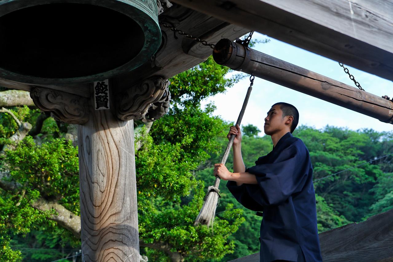 It is time to go - Komyoji temple first built in 1243.KamakuraJapan, May 2008