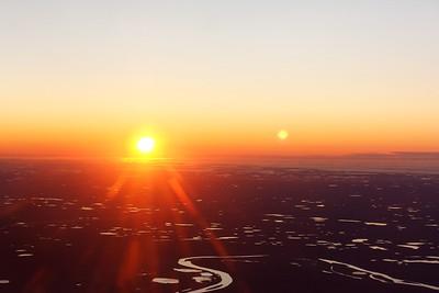 Sun set over artic wilderness
