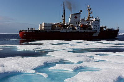 The Amundsen amidst the ice