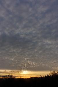 Winter rising sun - Le Screigne