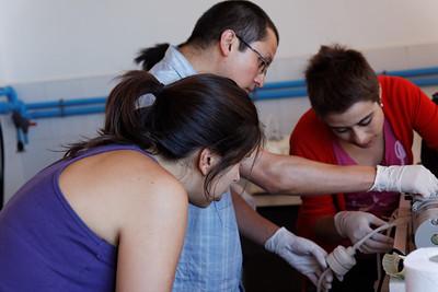 Filtering water - Maria Jesus, Felipe and Nicole