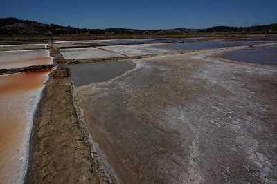 Salt ponds - Salinas Cahuil-Barrancas, Chile