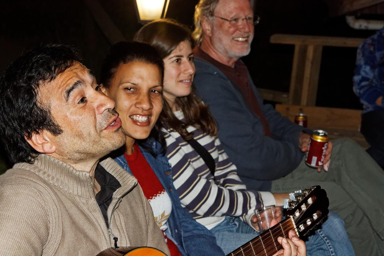 The mini-symposium party - Osvaldo, Yolaine, Florencia and Ger