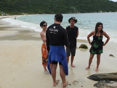 Benthos tutorial - Foro beach (Susana,from Roscof,f Gustavo, Alessandro, Suzanna from PUC)