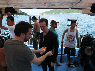 Diving trip - Eric, Cyrille, Vincius and Alessandro
