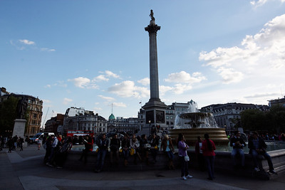 Trafalgar square and the Nelson column  - London - May 2013