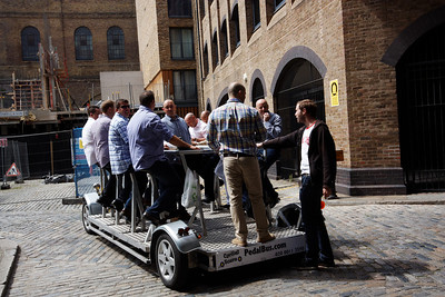 An original way of moving around with your beer - London June 2013