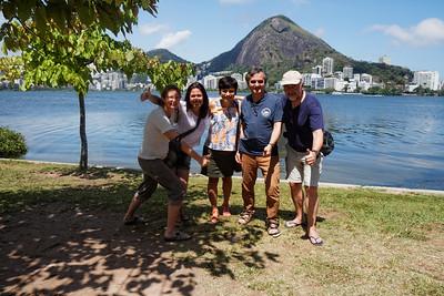 Laure, Catha, Adriana, Fred e Daniel - Lagoa