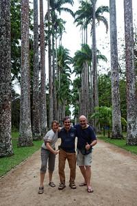 Laure, Fred e Daniel - Jardim botanico, Rio
