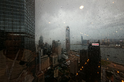 Bank of China building - HK in the rain