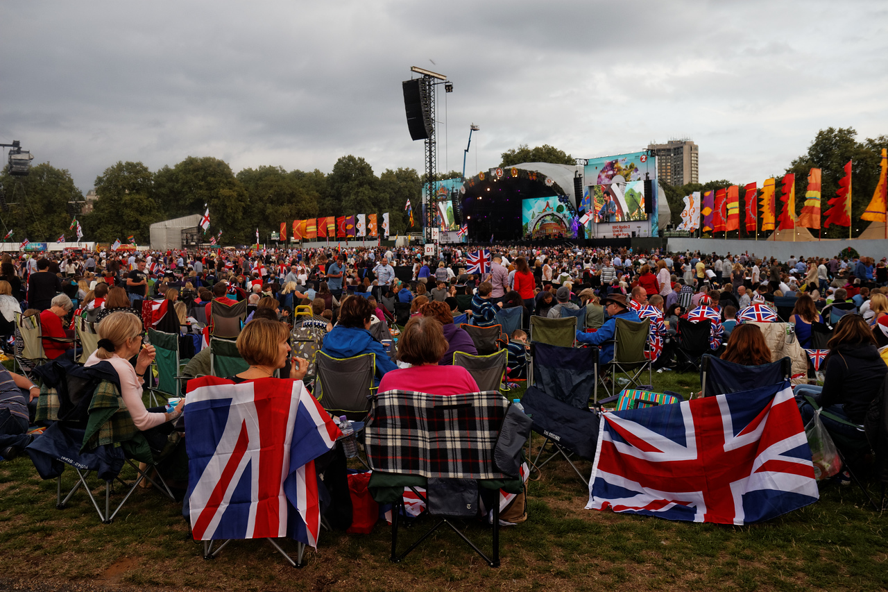 Last night of Proms at Hyde Park