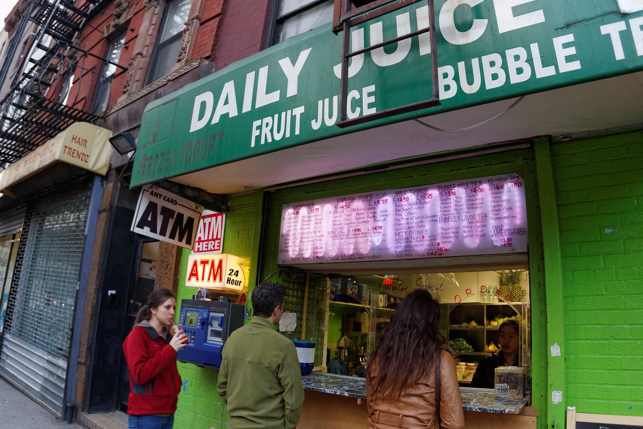 Bubble tea on 14th Street