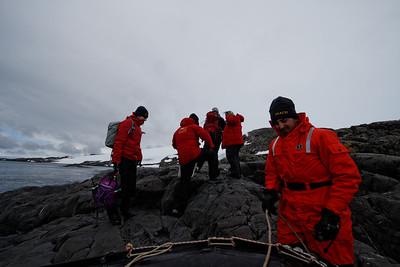 Landing near the glacier