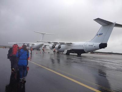Flight to Antarctica