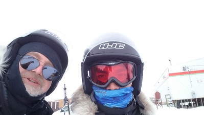 On the Skidoo with José
